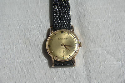 LeCoultre 18K solid yellow gold, Cal. 428, refinished dial, serviced