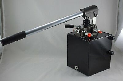 Hydraulic Hand Pump Double Acting 1.3 Gallon Capacity 25 Ccmpump