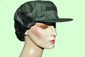 Black-Green-Military-Army-Surplus-Trapper-Cold-Weather-Hat-New-Paintball-Airsoft