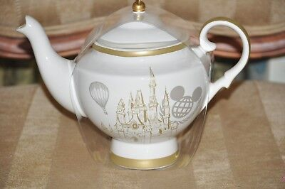 Disney Parks Believe in Magic Vintage Mickey Mouse Ceramic Teapot New Cinderella