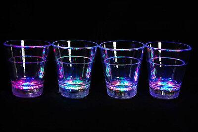Led Shot Glasses (Set of 4 Light Up MultiColor LED Shot Glasses- Fast USA)