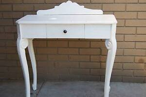 CONSOLE TABLE TIMBER STAND DESK SHELF HALLWAY HALL ENTRANCE WHITE Brighton Bayside Area Preview