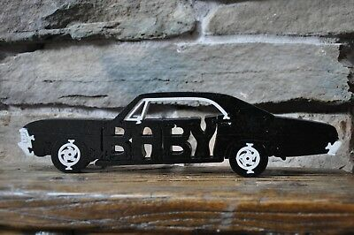 Supernatural Baby Impala Black  Hot Rod Wooden Puzzle  Car Toy NEW