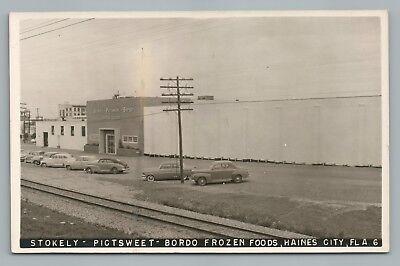 Stokley—Pictsweet—Bordo Frozen Foods RPPC Haines City FL Vintage Florida Photo