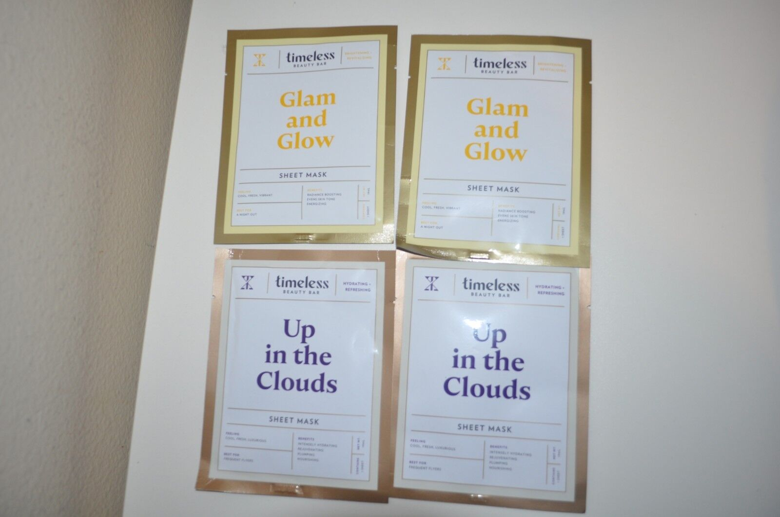 Timeless Beauty Bar Sheet Mask 4pcs Glam and glow & Up In Th