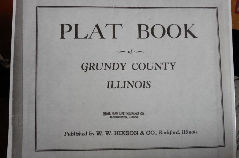 GENEALOGY ILLINOIS GRUNDY COUNTY PLAT MAP Ca1920-30s