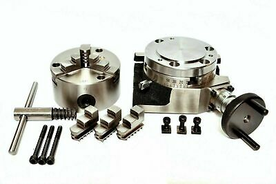 Rotary Table 4100mm With 80mm 3 Jaw Self Centering Chuck Backplate