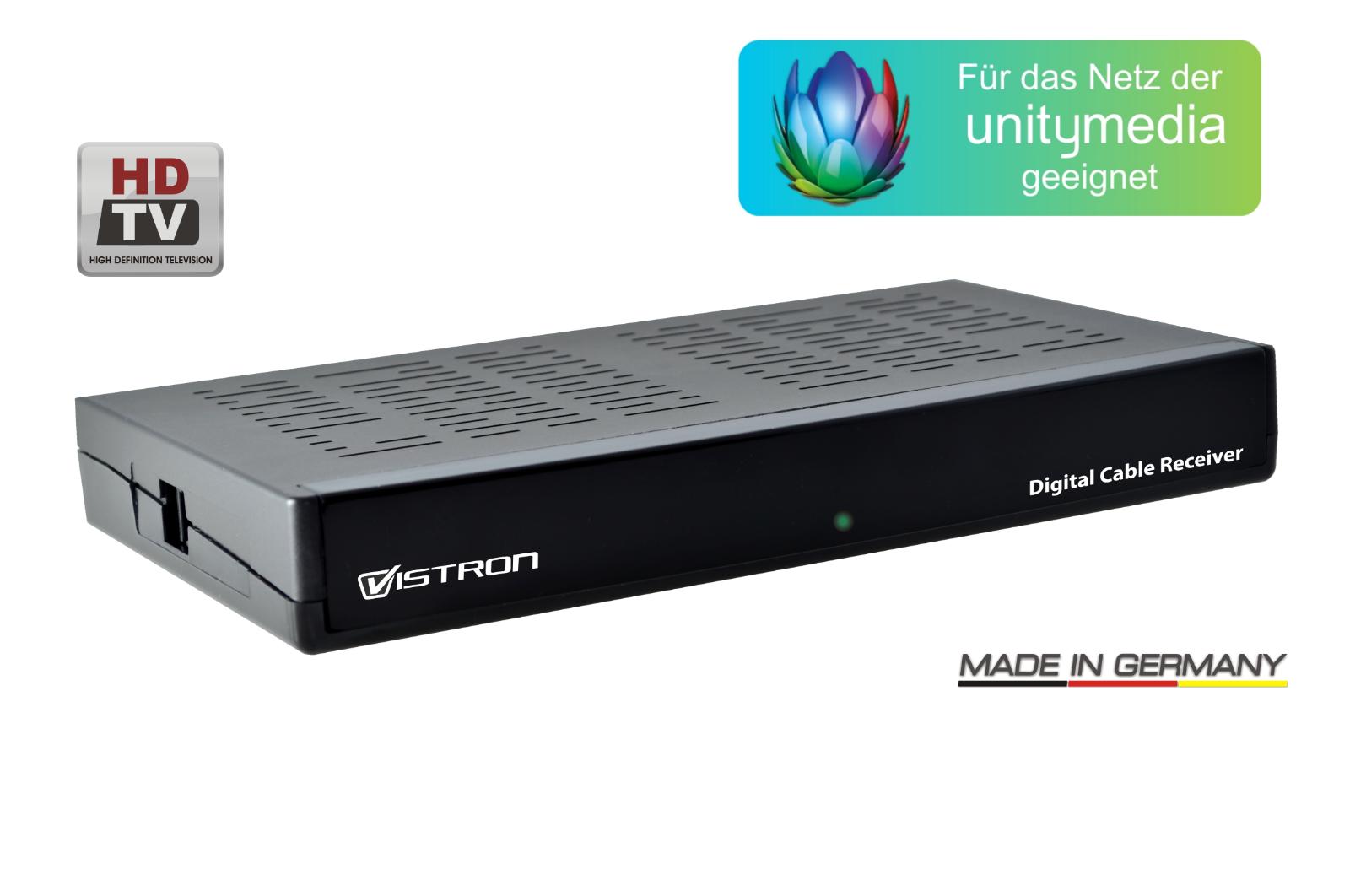 Vistron VT85  Digital HD Kabelreceiver, Scart Unitymedia Vodafone Telecolumbus