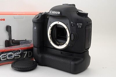 "【Mint+】 Canon EOS 7D  ""989 Shot"" +  BG-E7 , Strap Digital SLR from japan #211"