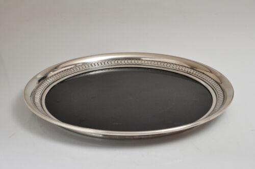 "Vintage Wallace Sterling Silver 4741 Modernique 12"" Tray Black Melamine Center"
