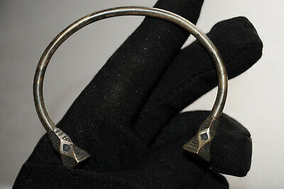 A one of a kind STYLE Ancient Viking Norse Solid Bracelet Large DOTS Terminals