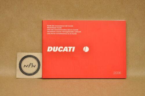 2006 Ducati World Dealer Guide Book Booklet