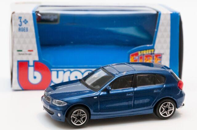 BMW 1 Series in Blue, Bburago 18-30181, scale 1:43, toy gift model boy