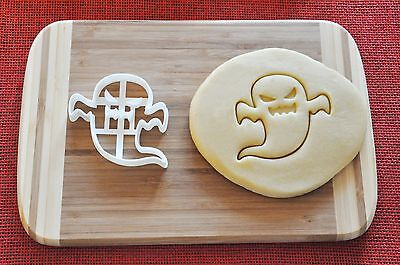 Halloween Ghost Angry Cookie Cutter Biscuit Stamp Cake Topper Fondant Ghost Cookie Cutter