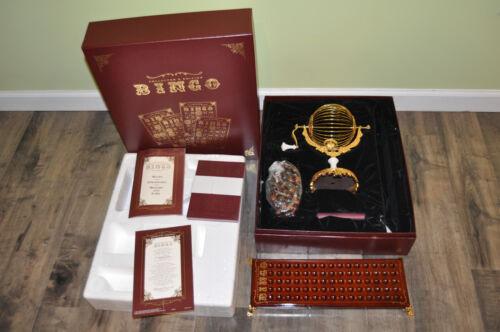 Super Rare Franklin Mint Bingo Set Game Collectors Edition w/ Box, COA, Rules