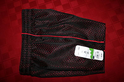 TODDLER BOYS JUMPING BEANS MESH ATHLETIC SHORTS BLACK WITH RED 12 MONTH NWT