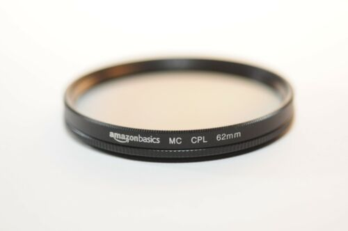 62mm CPL Circular Polarizing Amazonbasics filter for Canon Nikon Sony Sigma lens