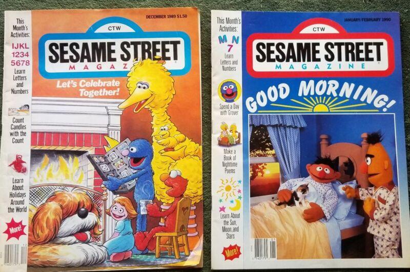 Sesame Street Vintage Magazines - Set of 4