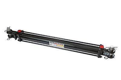 "Hydraulic Cylinder Tie Rod Double Action 2"" Bore 24"" Stroke 2500 PSI 2x24 NEW"
