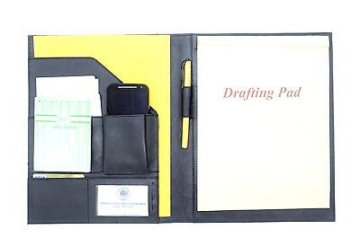 Leather Notepad Portfolio Writing Pad Portfolio Black Leather Pad Portfolio