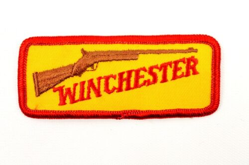 NOS New WINCHESTER Rifle Yellow & Red Stitched Applique Patch