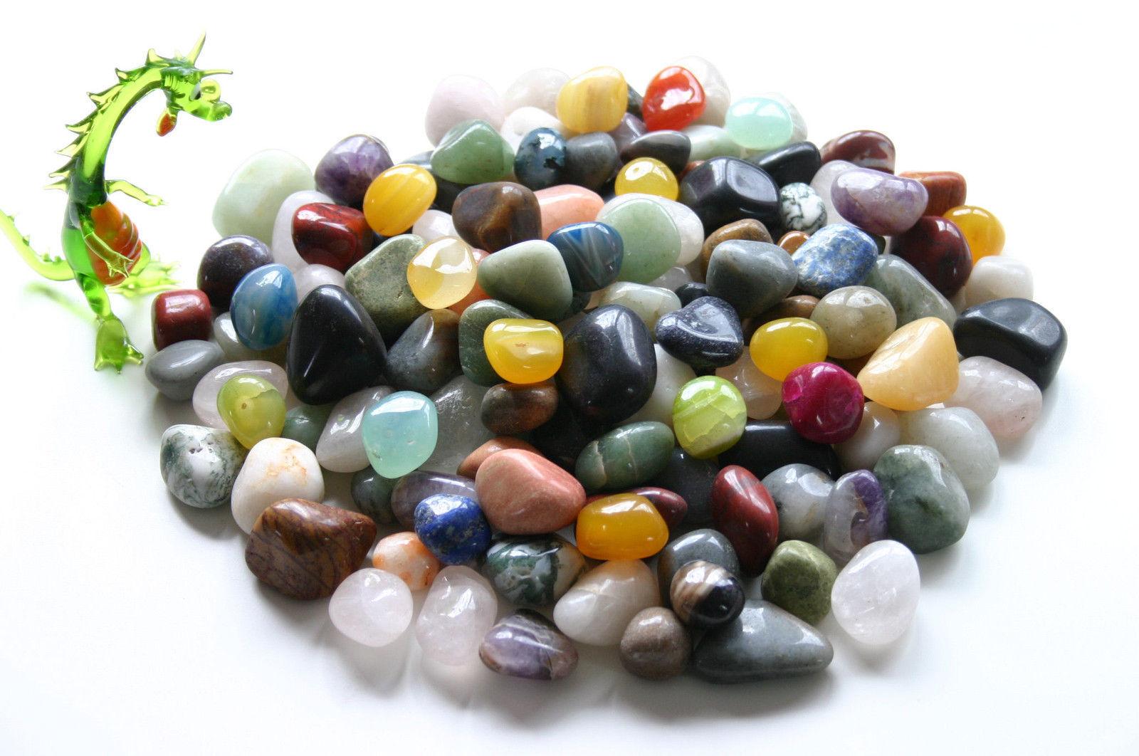 1 kg Trommelsteine Edelsteine ~ Halbedelsteine bunt gemischte Mineralien 25-50mm