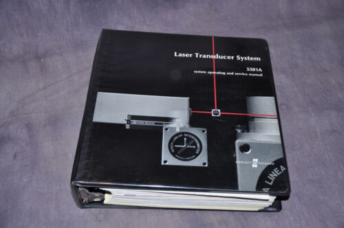 Hewlett Packard HP 5501 Laser Transducer Interferometer System Manual