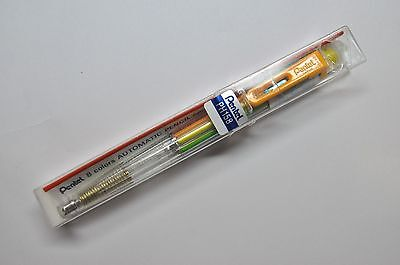 Pentel MULTI 8 colors  Bible Highlighter Mechanical Pencil Dark Orange Clip Jap