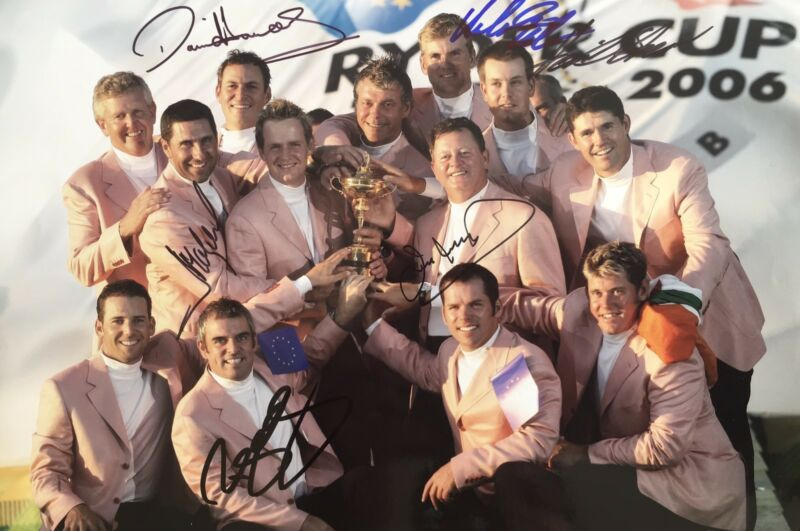 Ryder Cup 2006 signed by 6 European Players 12x8 photo UACC RACC Trusted AFTAL