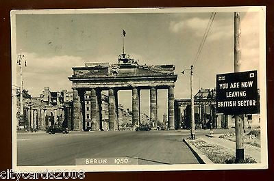 MILITARY  Berlin 1950 with Leaving British sector  sign    RP