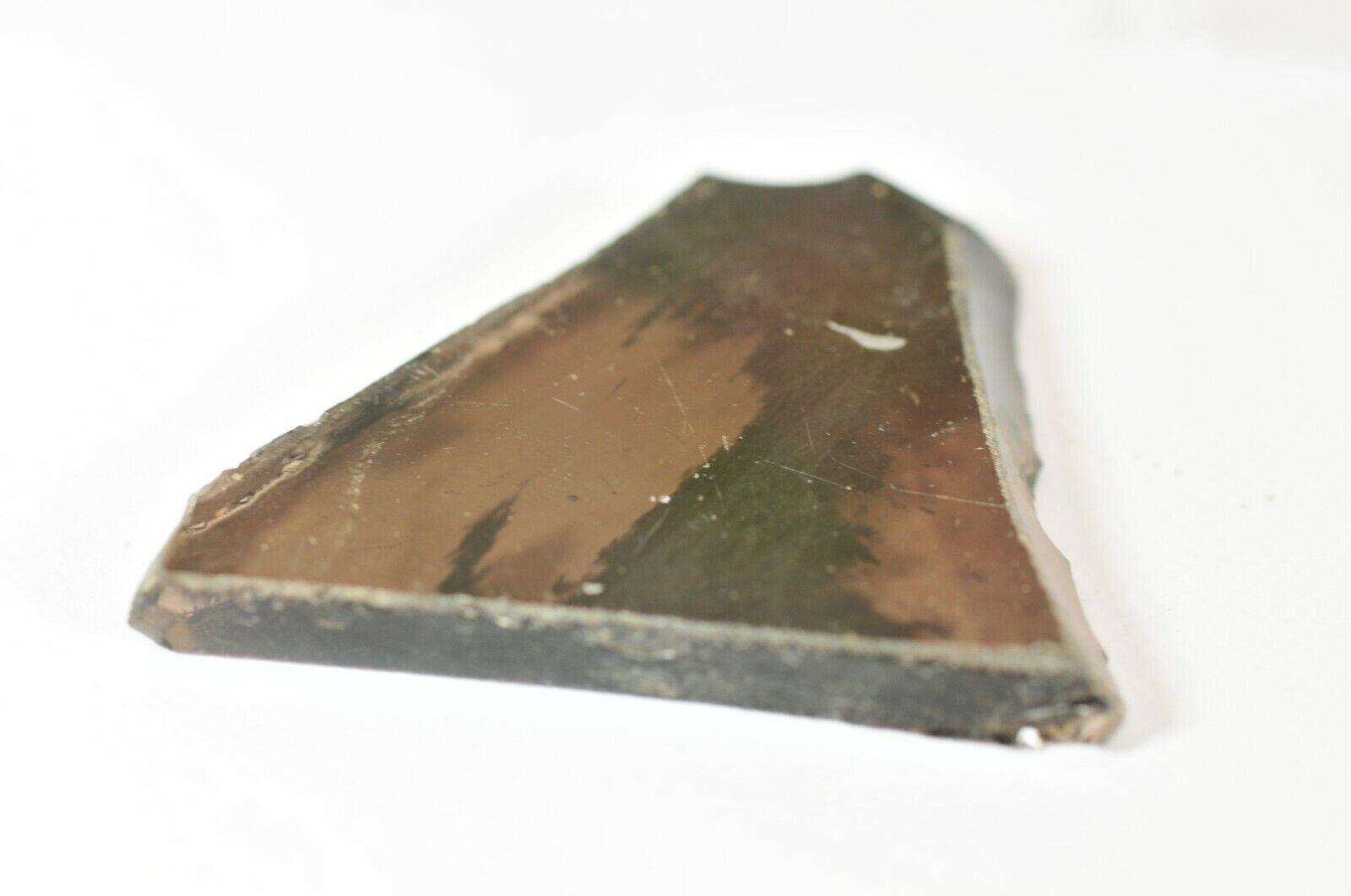 POLISHED SLICE of SMOKEY OBSIDIAN  - 5.7  x 4.4 cms 17.99 gms - GRIEF