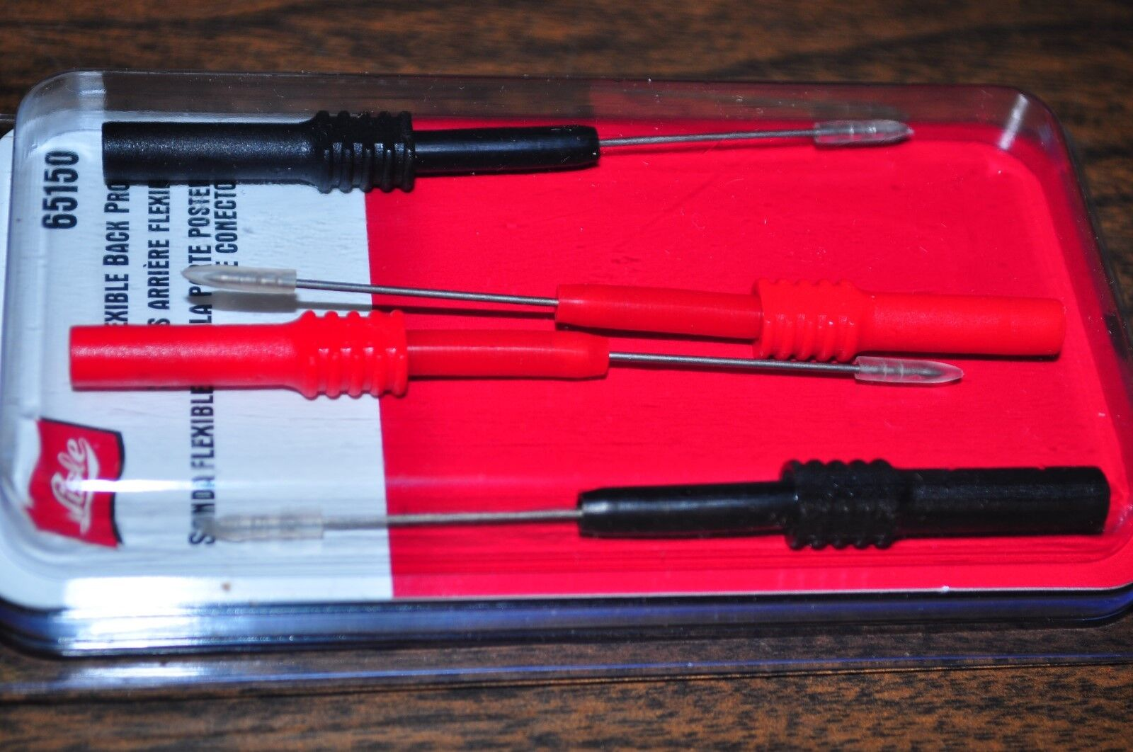 """Lisle 65150 Flexible Back Probes, 4pc ,3-3/4"""" long  used up to 30 Volts"""