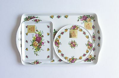 Royal Albert OLD COUNTRY ROSES Serving Tray 3Pcs Set
