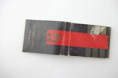 1950s National Hotel New Yorker Belmont Plaza Book-Cadillac Complete Matchbook