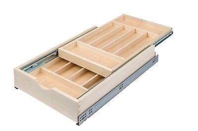 Century Components DTIER14PF-FF Double Tier Silverware Tray Organizer - 14-7/8
