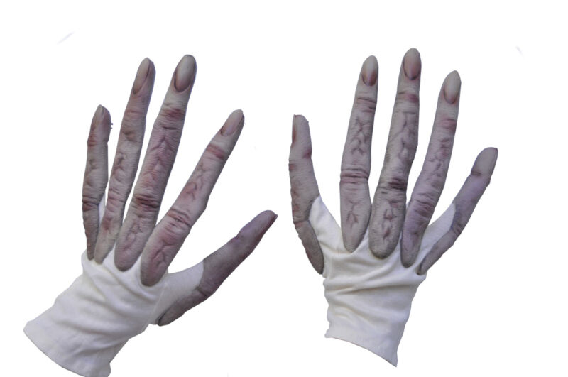 ADULT UFO SPACE ALIEN HANDS GLOVES COSTUME ACCESSORY 1020GBS