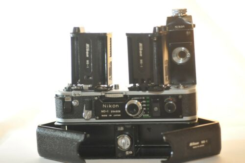 Nikon MD-1 MD 1 Motor Drive MB-1 pack MS-1 holders TESTED working for F2 F2S AS