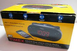 Timex XBBU Redi-Set Dual Alarm Clock Radio AM/FM T715BX NEW