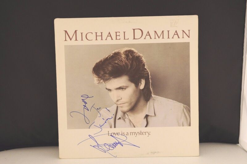Michael Damian Love is a Mystery Autographed Signed LP Album PSA Guaranteed
