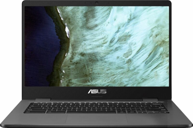 "ASUS - 14.0"" Chromebook - Intel Celeron N3350 - 4GB Memory - 32GB eMMC - Grey"