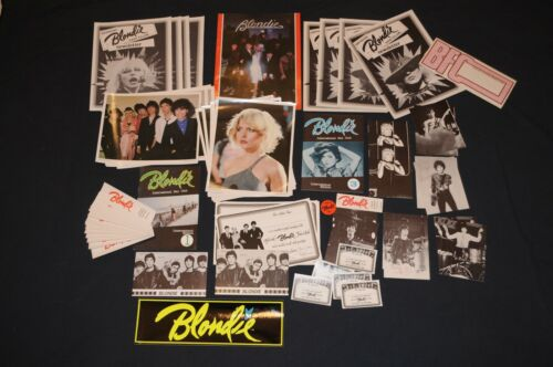 Blondie Fan Club Lot *72 items* Vintage 1979 Collectors pack Debbie Harry