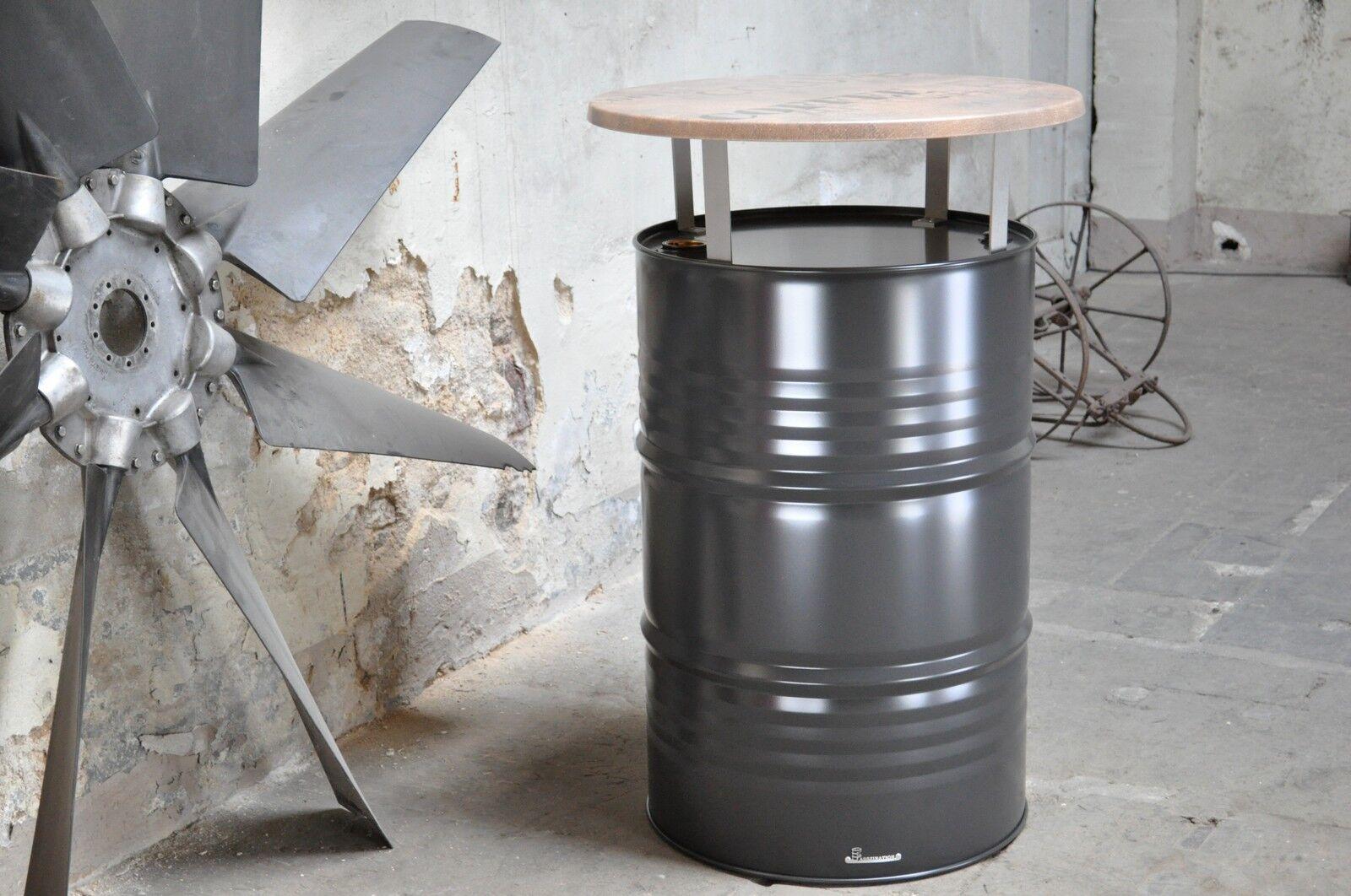 stehtisch bistrotisch aus 200l neu fass pulverbeschichtet. Black Bedroom Furniture Sets. Home Design Ideas