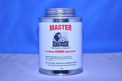 Contact Cement - Petronio,s Master All Purpose Contact Cement,Glue Adhesive, Shoe Repair 8 OZ.