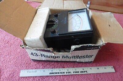 Multitester Micronta 43-range Doubler 50000 Ohmsvoltsampdc Radio Shack Tandy