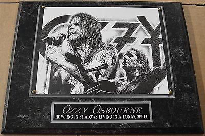 #1 FAN OZZY OSBOURNE FRAMED 8 x 10 PHOTO 12 X 15 WALL PLAQUE DISPLAY album cd