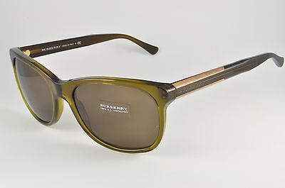 Burberry BE 4123 Sunglasses 3356/73 Olive, Size 57-18-140