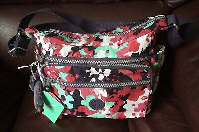 Kipling Medium Multi Organiser Colour Cross Body Shoulder Handbag K15255 Gabbie?