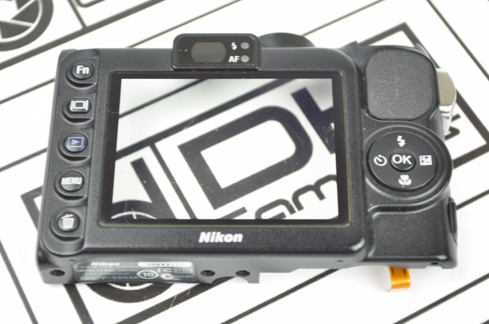 Nikon Coolpix L610 Rear Back Cover With Window Repair Black Part DH5017