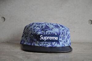 Supreme x Liberty Pinwale Cord Blue Floral Box Logo Camp Cap