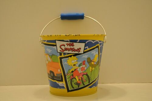 The SIMPSONS - TIN BEACH BUCKET by PLAYWORKS/2001 & BEACHBALL/1990